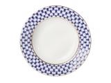 Lomonosov Porcelain Soup Plate Cobalt Net