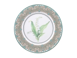 "Lomonosov Porcelain Decorative Plate Lily of the Valley 10.6""/270 mm"
