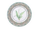 "Lomonosov Porcelain Decorative Plate Lily of the Valley 10.6""/270 mm"