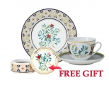 Special Offer Set: Decorative Plate and Teacup with Free Bijou Box Foxberry Lomonosov Porcelain