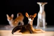 usskiy Dog Protecting Lomonosov Porcelain Figurine