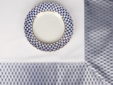 "Imperial Porcelain Lomonosov Tablecloth Cobalt Net 70""x70"" Blue-Gray"