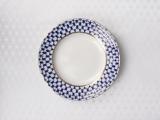 "Lomonosov Porcelain Lomonosov Tablecloth Cobalt Net 57""x86.6"" White"