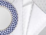 """Lomonosov Lomonosov Gift Set 6 Napkins Cobalt Net 17.7x17.7"""" White"""
